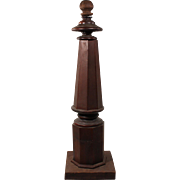 Reclaimed Antique Turned Walnut Newel Post, c.1870s