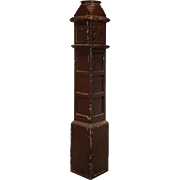 Salvaged Antique Boxed Newel Post, Early 1900's