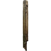 Salvaged Antique Boxed Newel Post, Late 19th Century