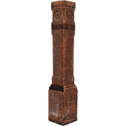 Salvaged Antique Eastlake Boxed Newel Post, Late 1800s
