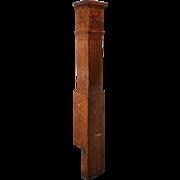 Salvaged Antique Oak Newel Post, c. 1910