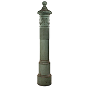Salvaged Antique Neoclassical Newel Post, Early 1900s