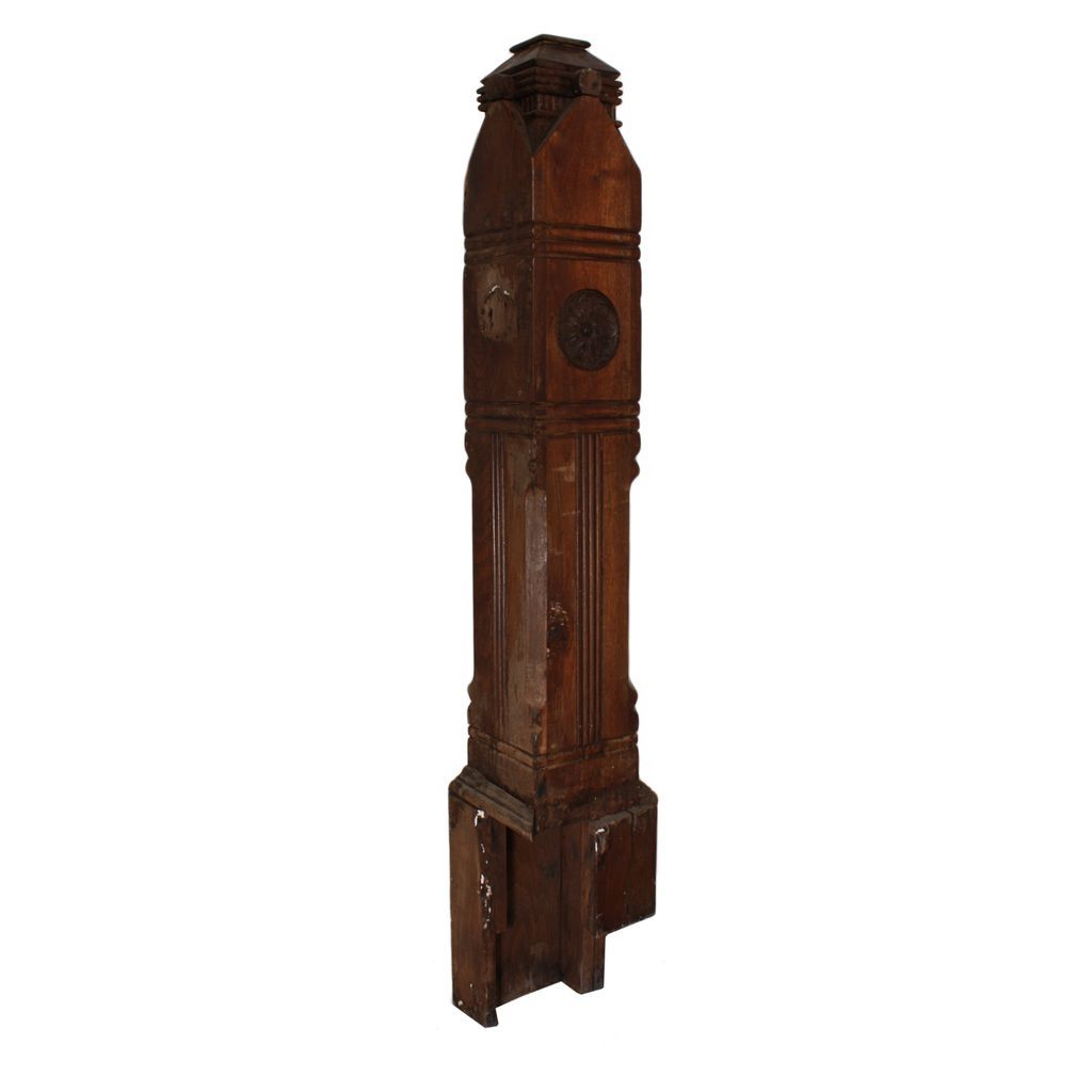 Incredible Antique Walnut Newel Post, Late 1800's