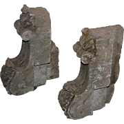 Antique Pair of Sandstone Corbels, Early 1900s