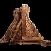 Reclaimed Antique Wood Corbel Pairs, c. 1880's