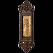 Stunning Antique Neoclassical Pocket Door Plates, 19th Century