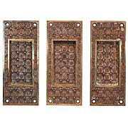 "Antique ""Madras"" Cast Bronze Pocket Door Plates by Yale & Towne, c.1894"