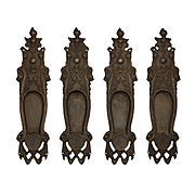 Antique Figural Pocket Door Plates, Early 1900s