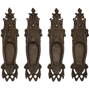 Antique Figural Pocket Door Plates, Early 1900s