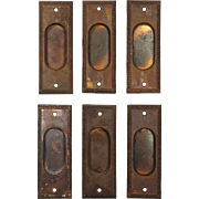 Antique Egg-and-Dart Pocket Door Plates, c. 1915