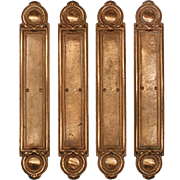 "Rare Antique Cast Bronze ""Darcy"" Push Plates by Russell and Erwin, c.1909"