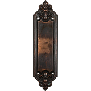 "Antique ""Leroy"" Push Plate by Russell & Erwin, c.1909"