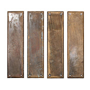 Antique Cast Bronze Push Plates by Reading Hardware