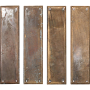 Antique Cast Bronze Push Plates by Reading Hardware