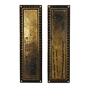 Antique Brass Push Plates with Egg-and-Dart