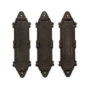 """Antique """"Meridian"""" Push Plates by Yale & Towne, c.1910"""