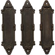 "Antique ""Meridian"" Push Plates by Yale & Towne, c.1910"