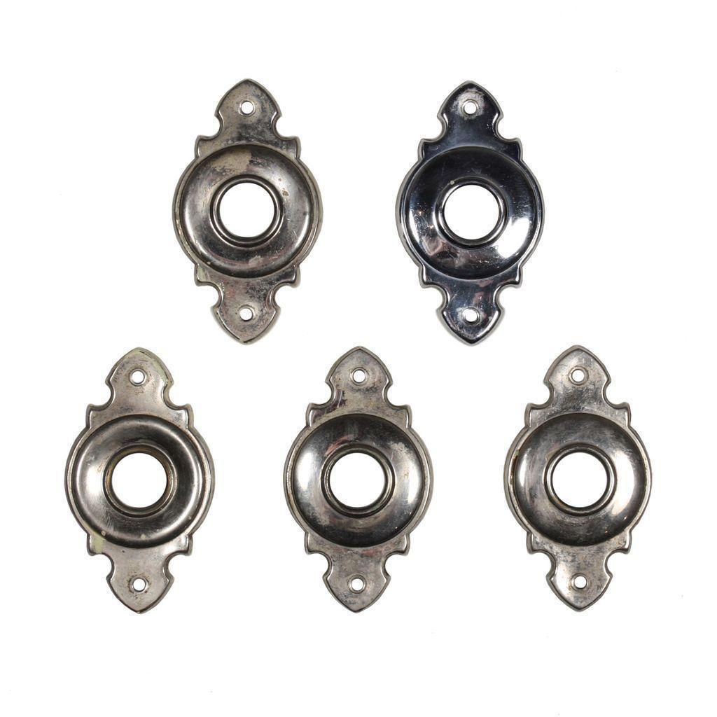 Antique Nickel Doorknob Escutcheons