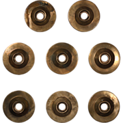 Antique Cast Bronze Doorknob Escutcheons