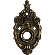 Antique Cast Brass Doorknob Escutcheons by Penn Hardware
