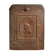 Superb Antique Figural Cast Iron Summer Cover, Woman & Dragons, c. 1890's