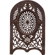 Antique Cast Iron Summer Cover with Pierced Detailing