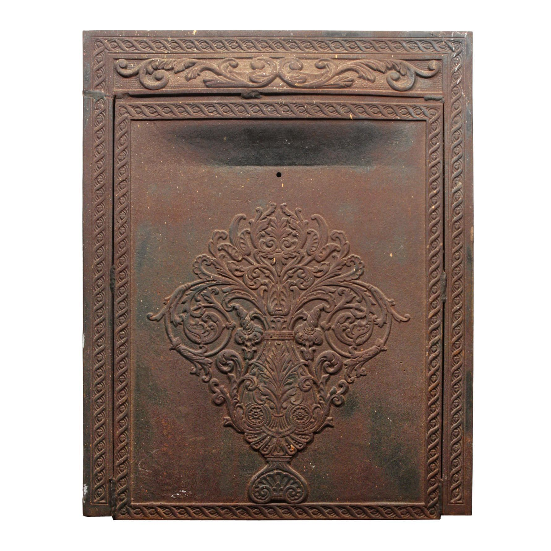 Antique Neoclassical Cast Iron Summer Cover Set, Early 1900s
