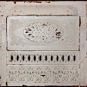 Antique Art Nouveau Cast Iron Fireplace Cover & Surround
