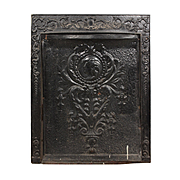 Antique Figural Fireplace Cover and Surround, c. 1900s
