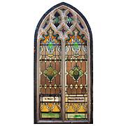 Antique Gothic Arch Window, c.1890