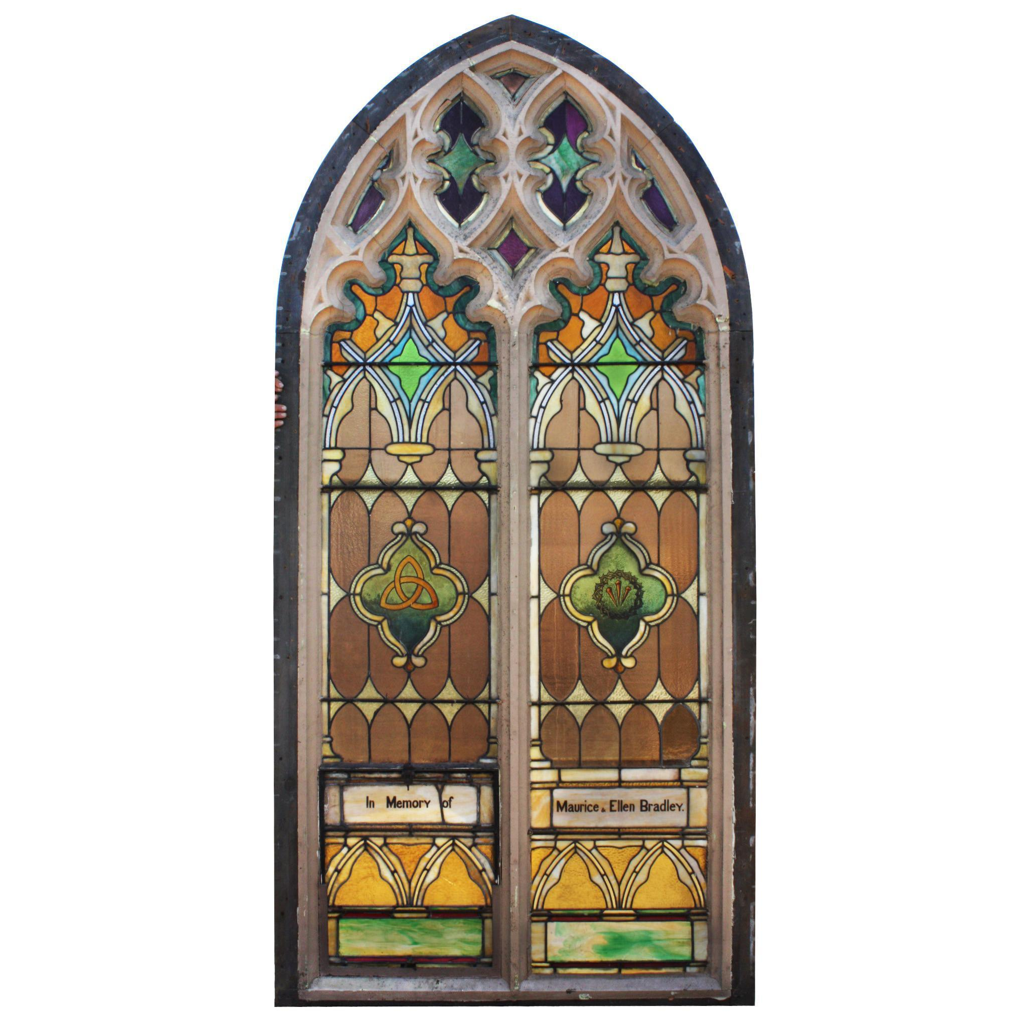 Antique Gothic Arch Window, c.1890