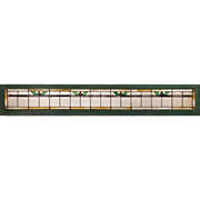 Antique American Stained Glass Transom, c. 1900's
