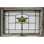 Antique American Stained Glass Window, Early 1900s