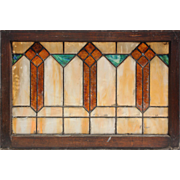 Antique Arts and Crafts American Stained Glass Window, c. Early 1900's