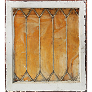 Antique American Stained Glass Window, Slag Glass