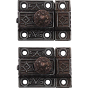 Eastlake Cast Iron Spring Latches, c. 1880's