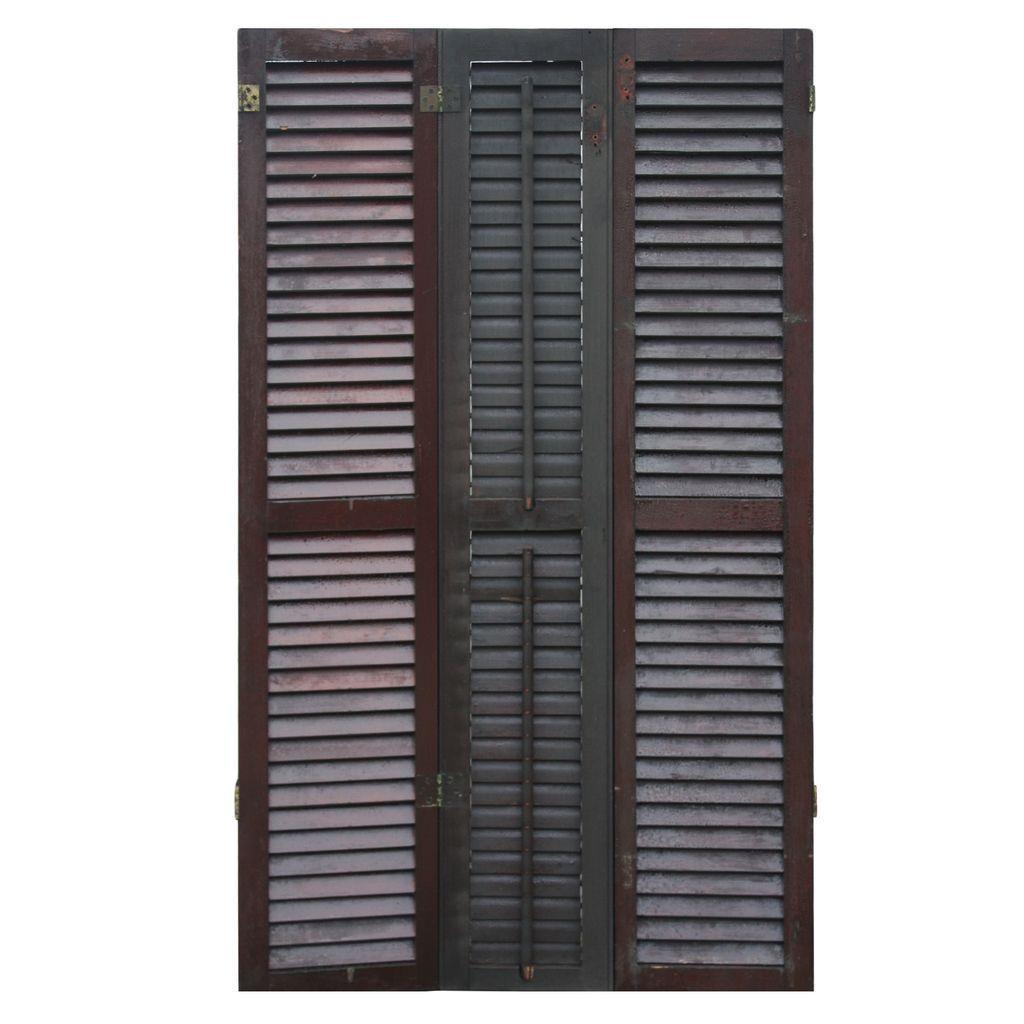 Beautiful Antique Interior Wood Shutters, Late 1800's