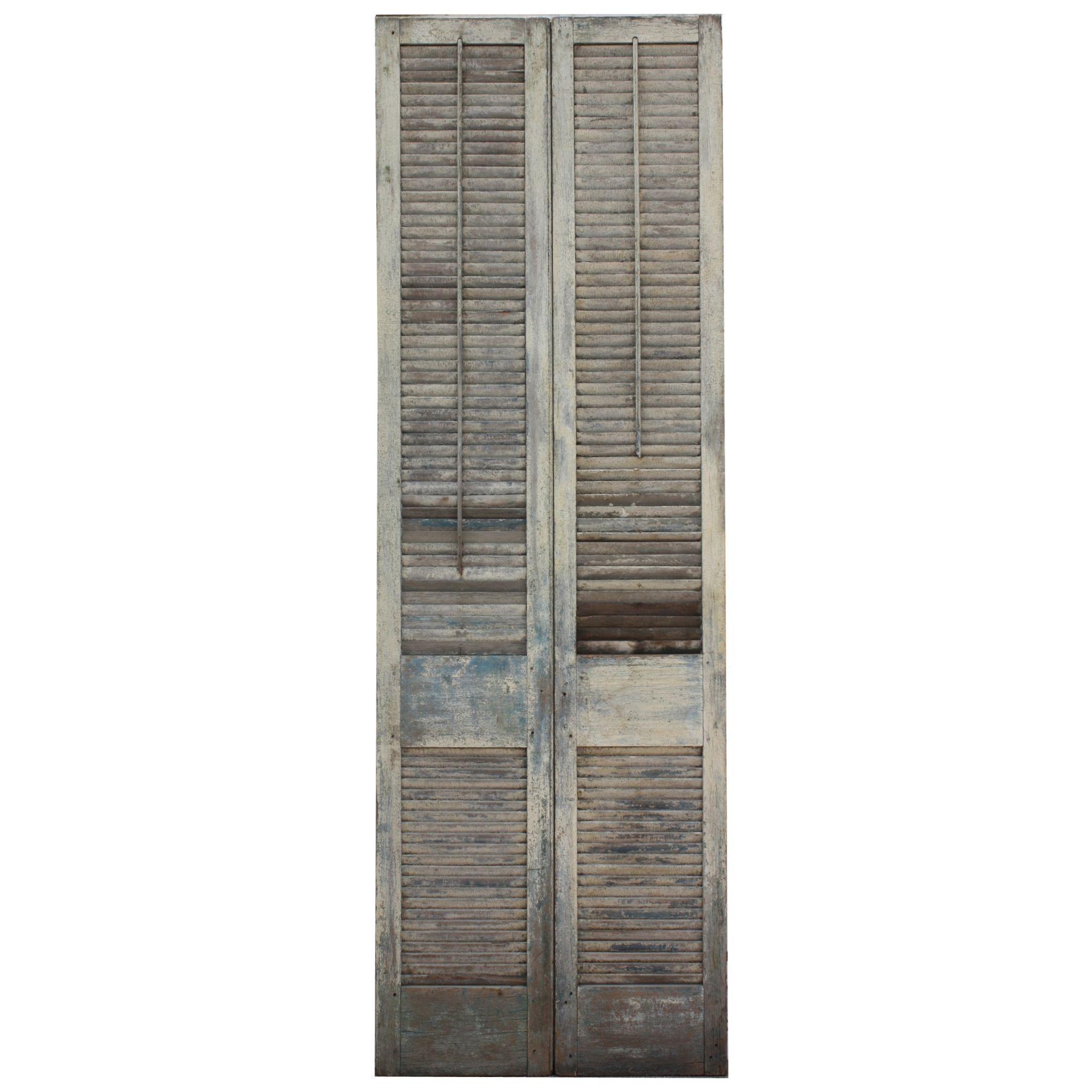 Salvaged Interior Wood Shutters From Alabama Plantation From Preservationstation On Ruby Lane