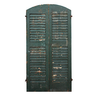 Reclaimed Arched Wood Shutters, Early 1900s