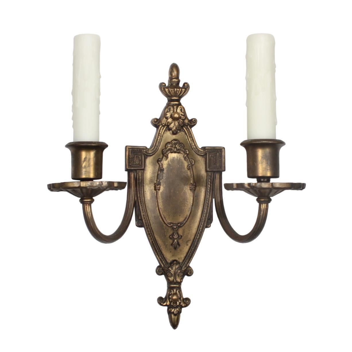 Splendid Antique Neoclassical Double-Arm Sconce