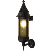 Magnificent Antique Gothic Revival Lantern Sconce, Early 1900s