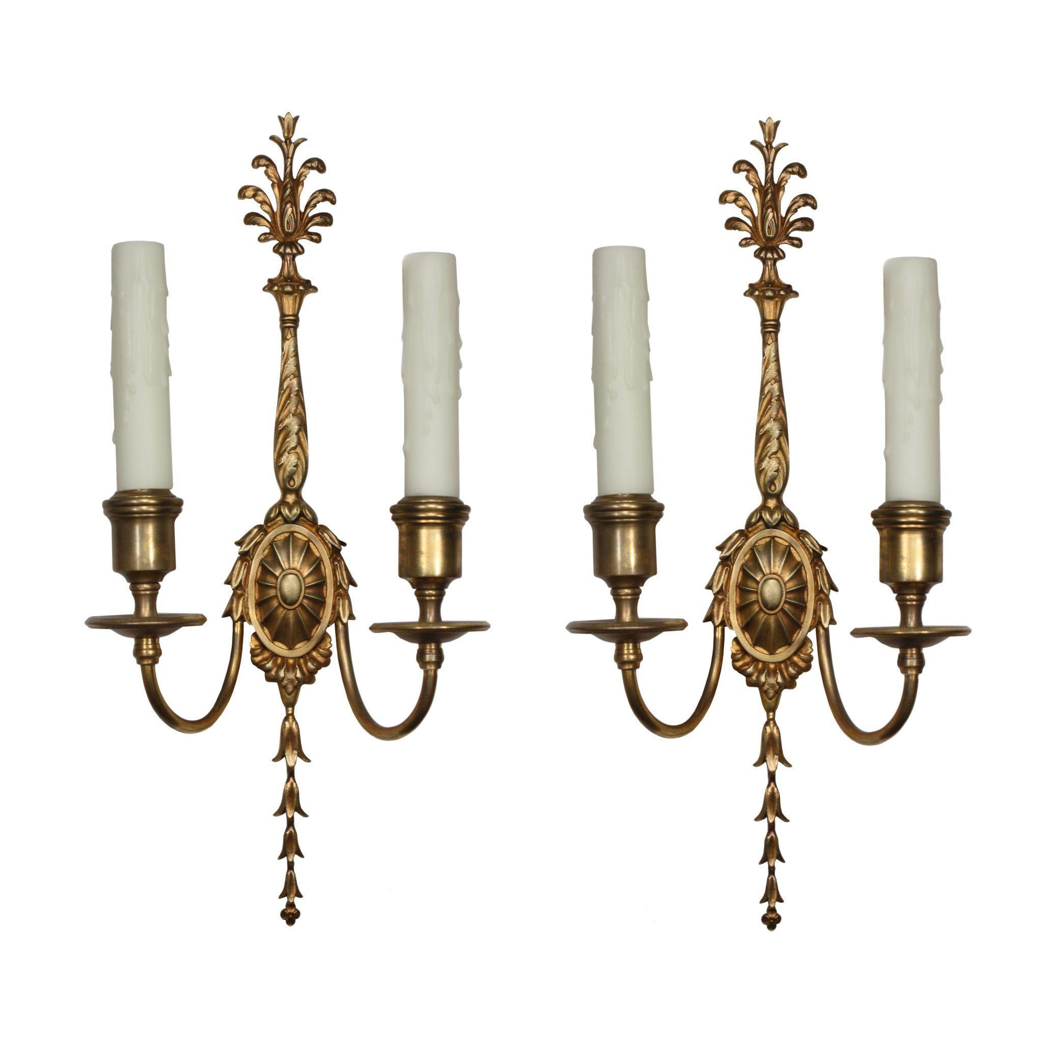 Antique Georgian Wall Sconces : Magnificent Pair of Antique Georgian Sconces, Signed E. F. Caldwell from preservationstation on ...
