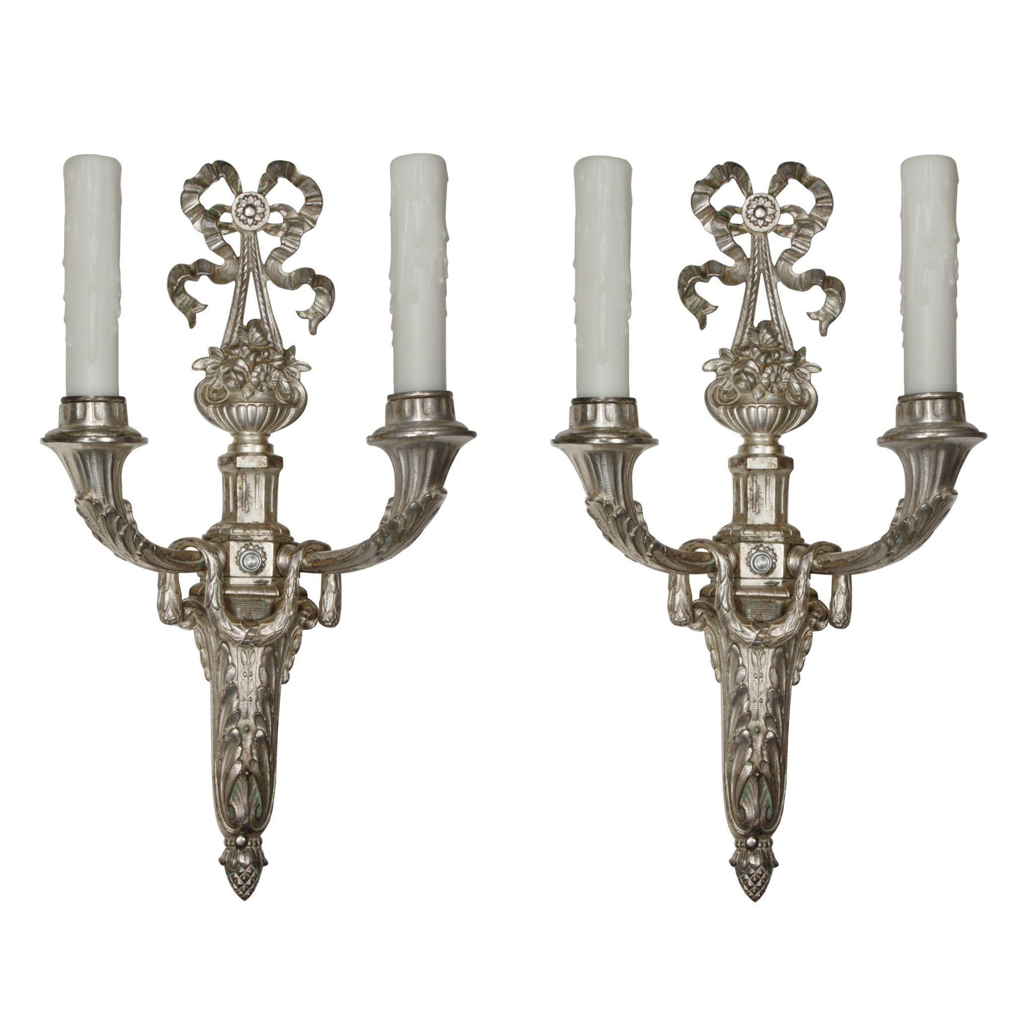 Whimsical Pair of Antique Georgian Sconces from Germany