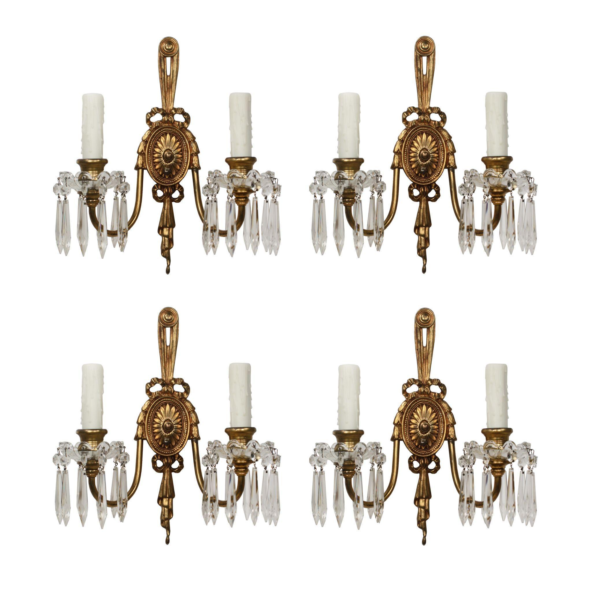 Pairs of Antique Georgian Sconces, Early 1900s