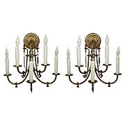 Antique Aesthetic Movement Five-Light Sconce Pair, c.1870