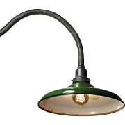 Vintage Industrial Sconce with Green Enamel Shade by Leviton