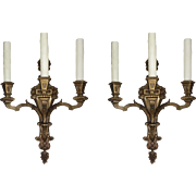 Pair of Antique Figural Sconces, Attributed to E. F. Caldwell