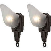 Pair of Antique Art Deco Slip Shade Sconces by Markel
