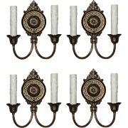 Pairs of Antique Neoclassical Double Arm Sconces