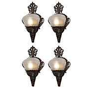 Antique Art Deco Slip Shade Sconce Pairs